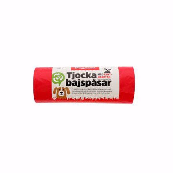 HømHømpose m/knyt 50 stk. Rød